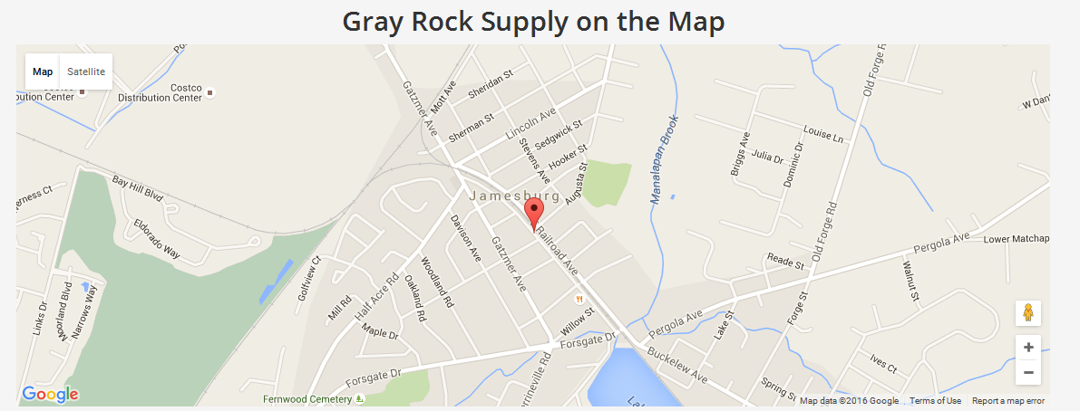 Map Gray Rock Supply